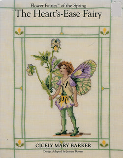 Green Apple Heart's Ease Fairy Cicely Mary Barker cross stitch pattern