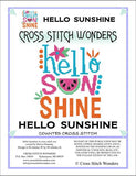 Cross Stitch Wonders Carolyn Manning Hello Sunshine Cross stitch pattern