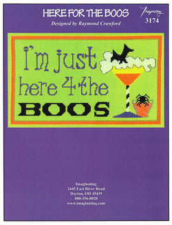 Imaginating Here 4 the boos 3174 cross stitch pattern