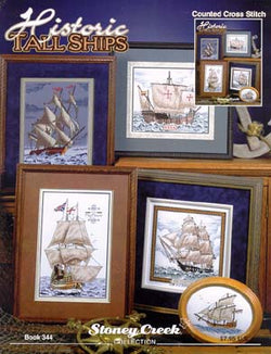 Stoney Creek Historic Tall Ships BK344 cross stitch booklet
