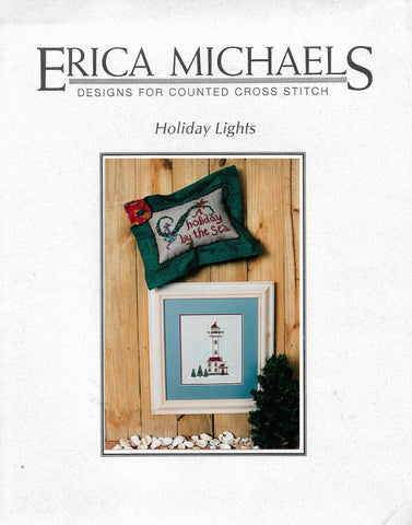 Erica Michaels Holiday Lights lighthouse cross stitch pattern