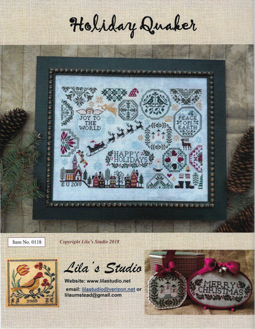 Lila's Studio Holiday Quaker 0118 cross stitch pattern