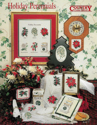 Country Cross-stitch Holiday Perennials flower cross stitch patterns