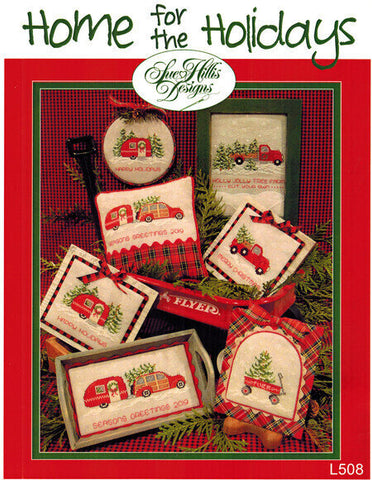 Sue Hillis Home for the holidays Christmas cross stitch pattern