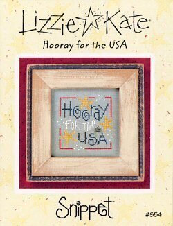 Lizzie Kate Hooray for the USA patriotic cross stitch pattern
