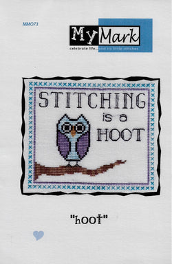 My Mark Stitching is a hoot cross stitch pattern