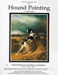 Fine Arts Heritage Society Hound Pointing dog cross stitch pattern