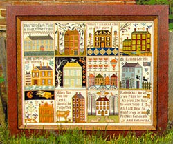 Carriage House Samplings Houses of Hawk Run Hollow cross stitch pattern