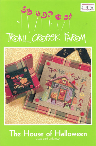 Trail Creek farm The House of Halloween cross stitch pattern