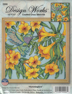 Design Works Hummingbird 2996 cross stitch kit