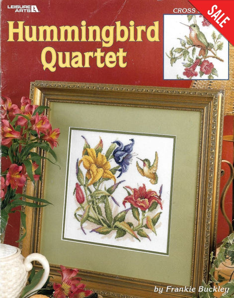 Leisure Arts Hummingbird Quartet 3459 bird cross stitch pattern
