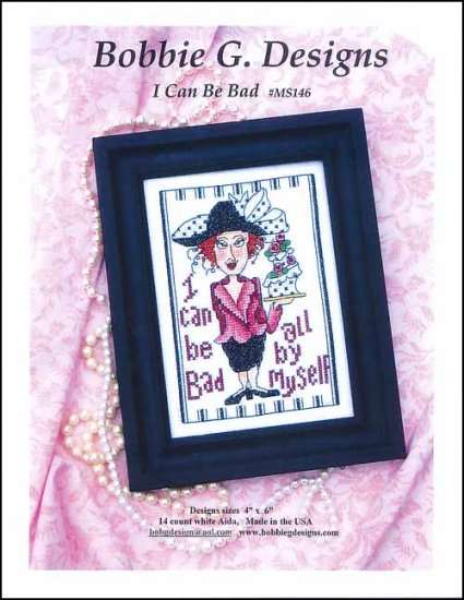 Bobbie G. I Can Be Bad MS146 cross stitch pattern
