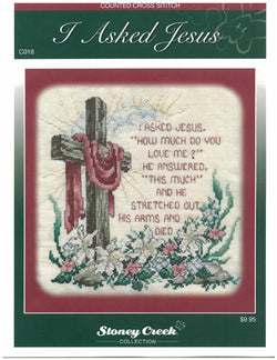 Stoney Creek I Asked Jesus LFT131 cross stitch booklet