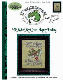 Dragon Dreams I'll make my own happy ending DD88 cross stitch pattern