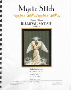 Mystic Stitch Illuminate my path angel cross stitch pattern