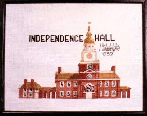 Kneedle Knack Independence Hall cross stitch kit