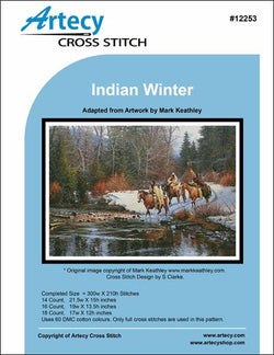 Artecy Indian Winter by Mark Keathley native american cross stitch pattern
