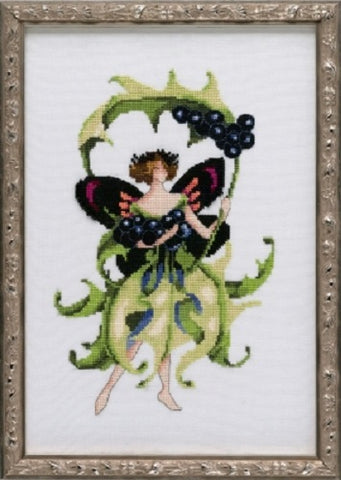Mirabilia Inkberry Holly NC227 Nora Corbett Pixie cross stitch pattern