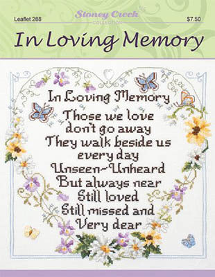 Stoney Creek In Loving Memory LFT288 cross stitch booklet