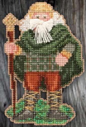 Mill Hill Ireland Santa beaded cross stitch kit