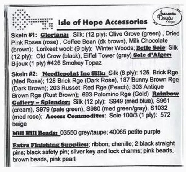 Jeanette Douglas Isle of Hope Accessories Embellishment pack