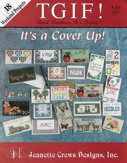 Jeanette Crews TGIF It's a cover up ceoss stitch patterns