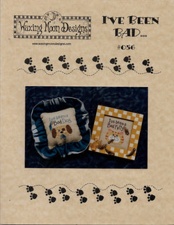 Waxing Moon I've Been Bad cat and dog cross stitch pattern