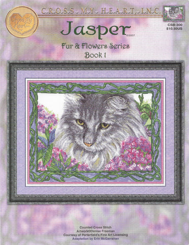 Cross My Heart Jasper CSB-300 cat cross stitch pattern