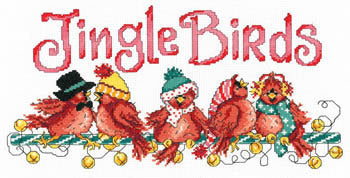 Imaginating Jingle Birds 3102 Christmas cross stitch pattern