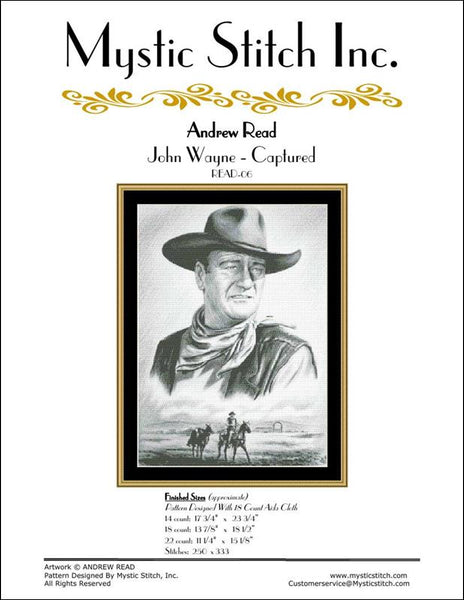 Mystic Stitch John Wayne - Captured cross stitch pattern