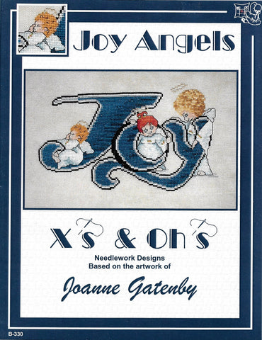 X's and Oh's Joy Angels Christmas cross stitch pattern
