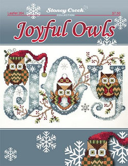 Stoney Creek Joyful Owls LFT264 cross stitch pattern