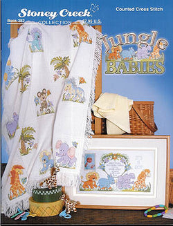 Stoney Creek Jungle Babies BK382 cross stitch booklet