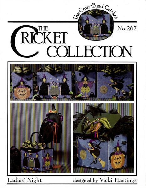 Cricket Collection Ladie's Night CC267 halloween cross stitch pattern