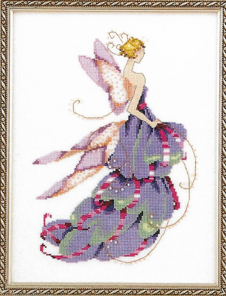 Mirabilia Lady Slipper NC165 Spring Garden Party victorian cross stitch