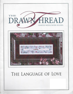 Drawn Thread Language of Love cross stitch pattern