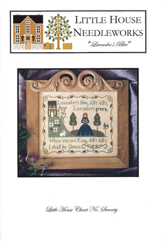 Little House Needleworks Lavender's Blue primitive cross stitch pattern