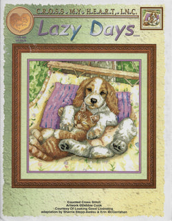 Cross My Heart Lazy Days Cat and Dog cross stitch pattern
