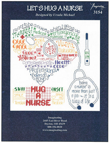 Imaginating Let's hug a nurse 3154 cross stitch pattern