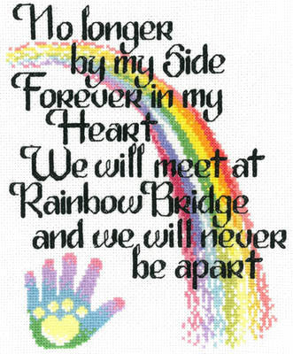 Imaginating Let's cross the rainbow bridge cross stitch pattern