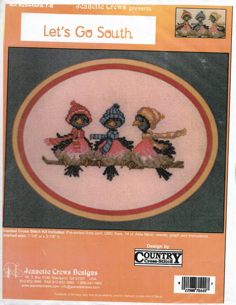 Jeanette Crews Country Cross-Stitch Let's Go South bird cross stitch kit