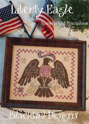 Blackbird Designs Liberty Eagle cross stitch