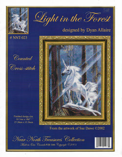 Kustom Krafts Light in the forest Unicorn cross stitch pattern