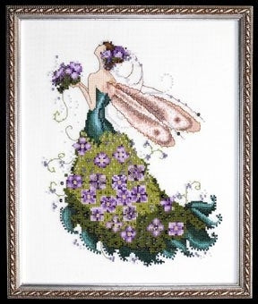 Mirabilia Lilac NC130 Pixie Couture victorian cross stitch