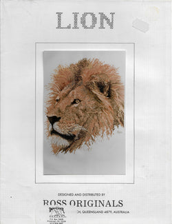 Ross Originals Lion cross stitch pattern