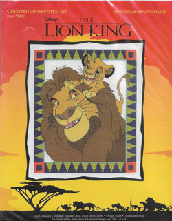 Just CrossStitch Mufassa & Young Simba 38002 Lion King cross stitch kit