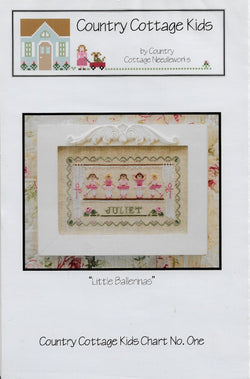 Country Cottage Needleworks Kids Little Ballerina cross stitch pattern