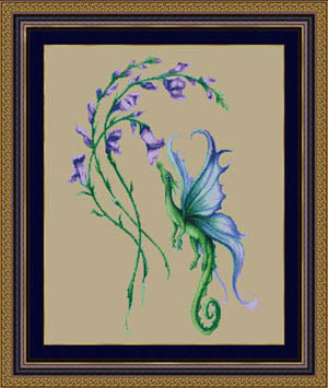 Kustom Krafts Little Snap Dragon cross stitch pattern