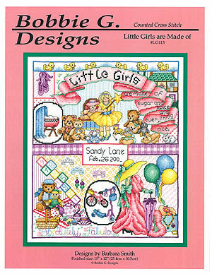 Bobbie G. Designs Little girls are made of LG113 cross stitch pattern