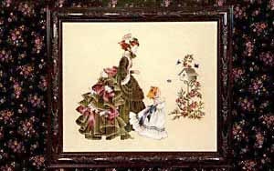 Lavender and Lace Little Wings Marilyn Leavitt-Imblum victorian cross stitch pattern